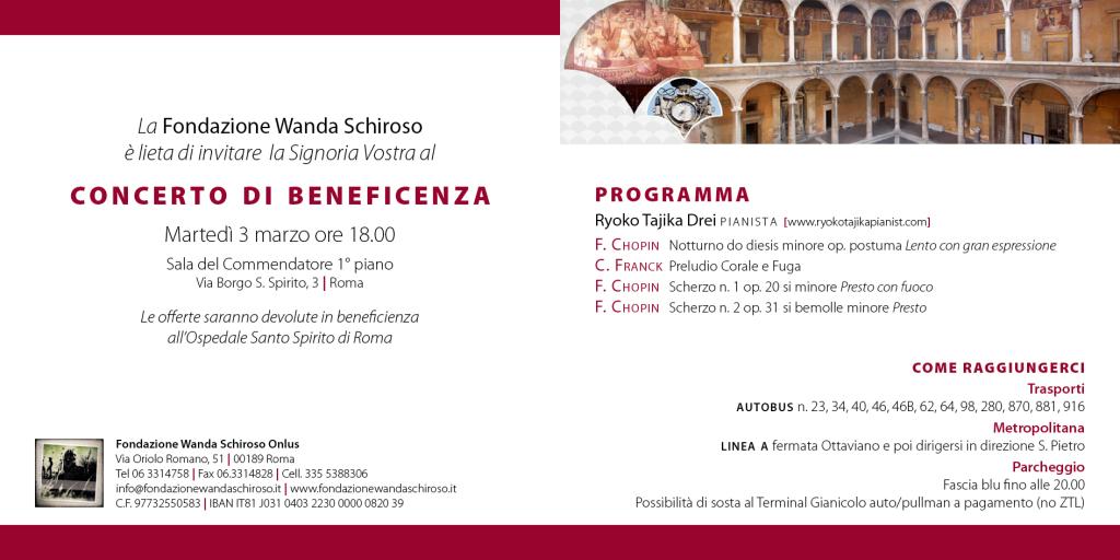 Invito Fondazione Wanda Schiroso